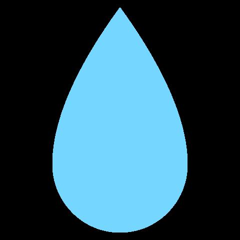 Symbol of water drop / Tear.