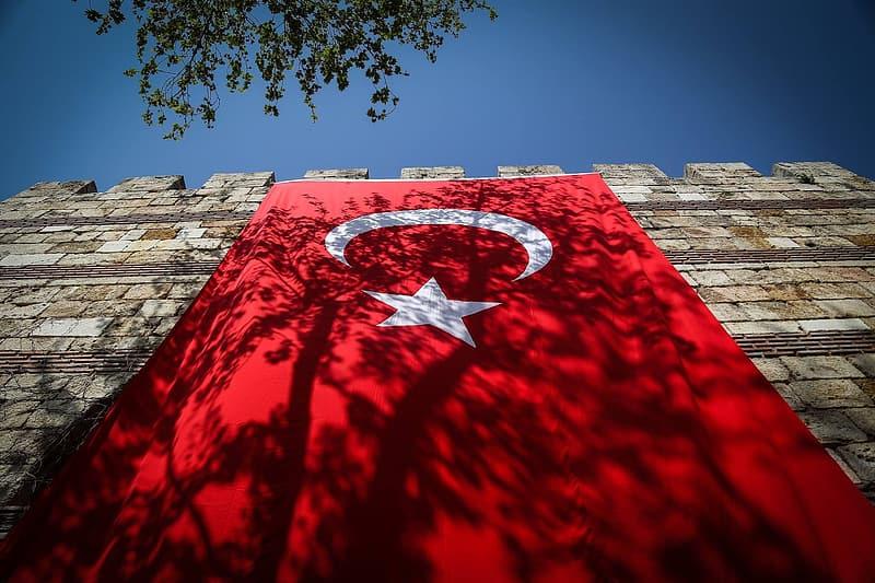 Turkish flag  / Symbol of Islam.