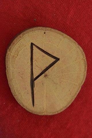Wunjo rune / Nordic symbol of happiness.