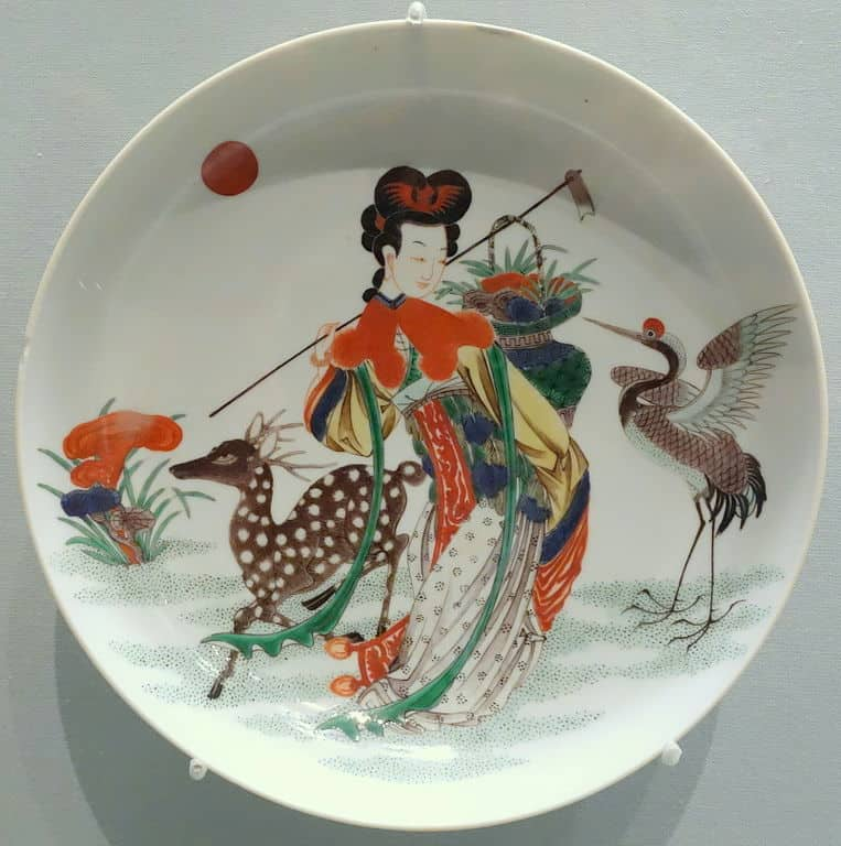 Qing Dynasty dish portraying a deer.