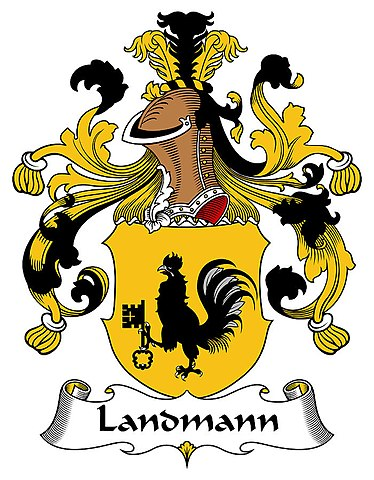 A German noble's coat of arms / Landmann heraldry.