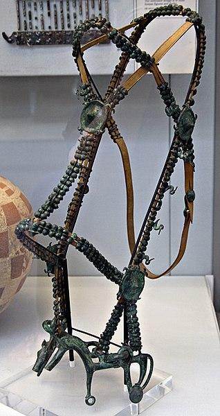 Bridle in the British museum, Etruscan, c. 700-650 BC / Symbol of Nemesis.