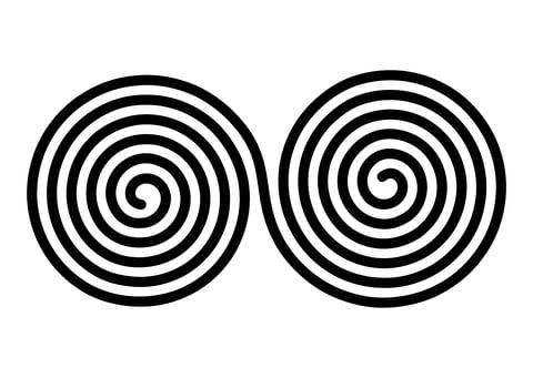 A Celtic symbol of balance / Double spiral symbol.