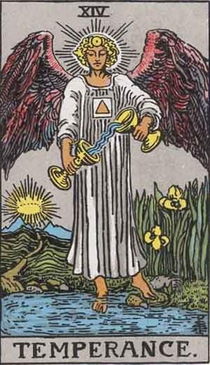 Tarot balance symbol / Temperance tarot.