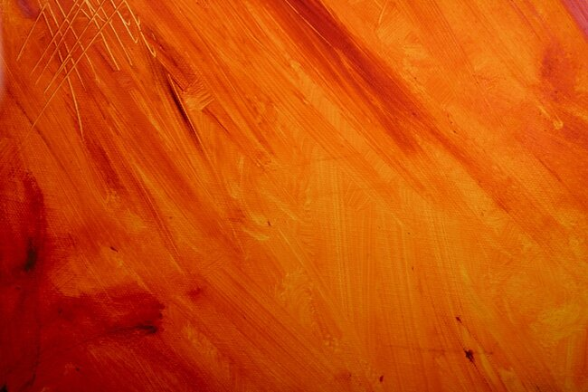 Abstract orange painting.