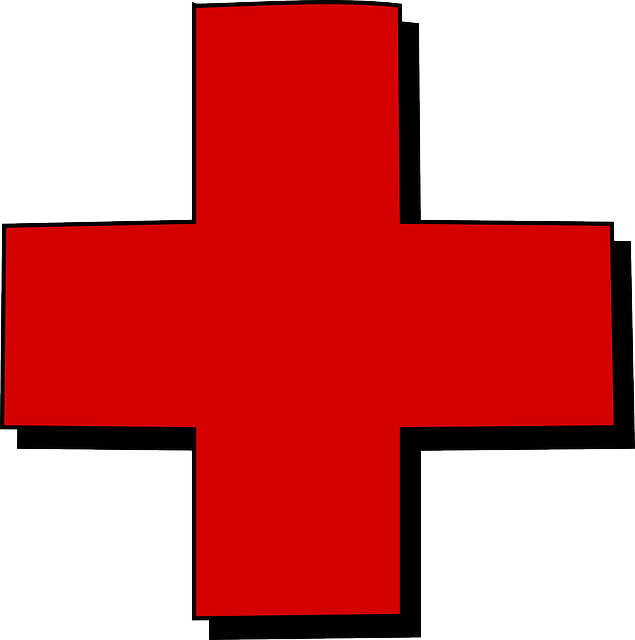 A symbol of the red cross.