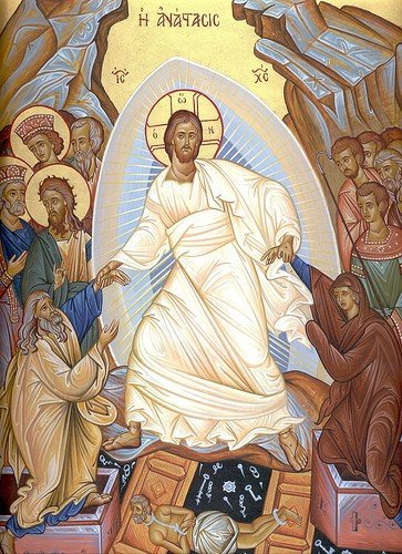 Icon of the Resurrection depicting Christ.
