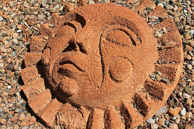 Sun face symbol for the Zuni people.