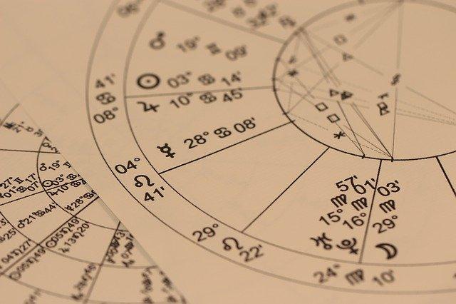 Zodiac divination chart. Sagittarius.