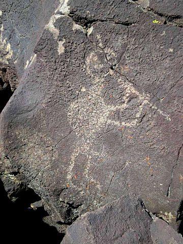 Kokopelli cave art.