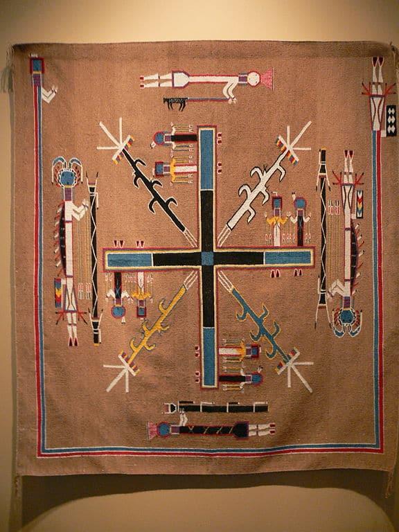 Navajo Sand Painting rug.