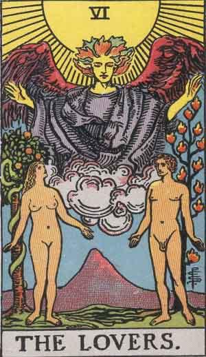 The Lovers Tarot Card.