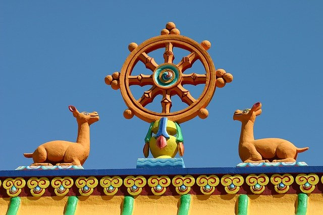 The Dharma Wheel.