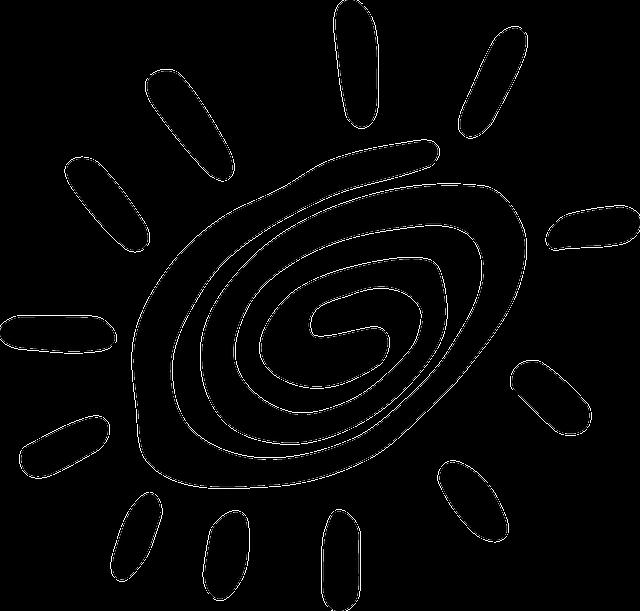 The spiral sun.