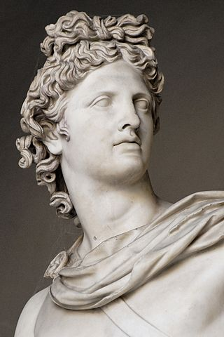 Statue of Greek god Apollo.