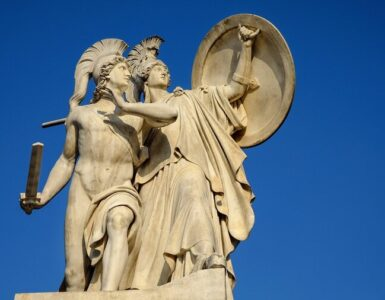 Greek gods monument