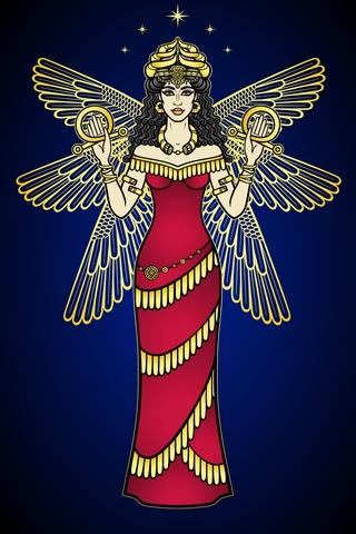 Depiction of Goddess Inanna.
