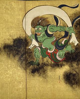 Fujin, god of wind.