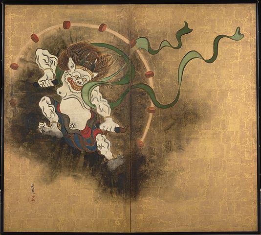 Raijin, god of lightning and thunder.